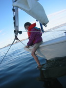 Pixie on the starboard bow