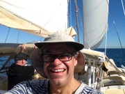 Close hauled selfie, Moreton Bay