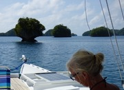 Linda painting the Rock Islands, Palau Sept 2015