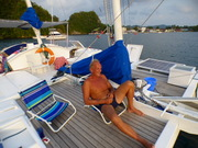 Norm relaxing in beautiful Malakal Harbour, Palau