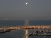 A summer moon set