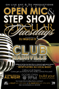 OPEN MIC EVERY TUESDAY@CLUB NASVILLE in HATTIESBURG MS601 329 9404