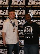 DJ Ames (UK) and DJ Scorpio (South Kak)