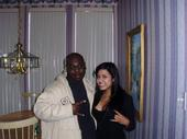 """Krusaphixxx and Jessica Martinez of Prima J after recording his new album """"I Fought the World and the World Lost"""""""