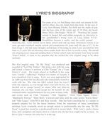Lyric bio