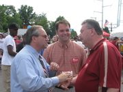 Jackson and LG Bill Bolling with a supporter