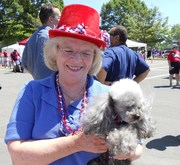 Sandy Whitmore and Annie, the Patriotic Pup
