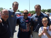 Marty Nohe, Mike May, Tito Munoz, Jackson Miller and son celebrate July 4th in PW County