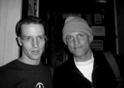 THTC's Gav Lawson and Woody Harrelson