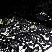 Modespitze Germany - lace allover - organic cotton - black
