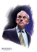 Portrait Ron Paul for President by Warren Louw