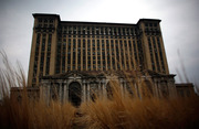The abandoned Michigan Central Station in Detroit, Michigan
