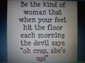 be the kind of woman