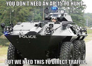 Hunting? No, Protection From Government.