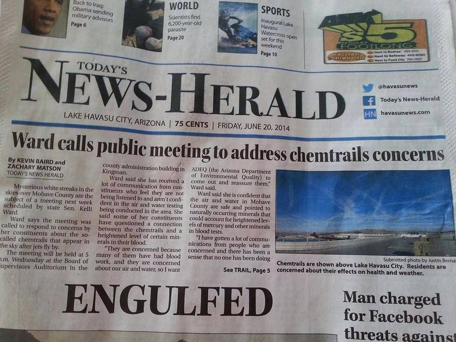 Chemtrails Make Headline!