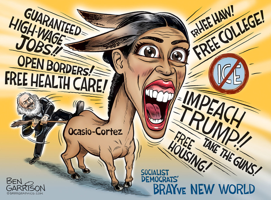 Democrat Socialists BRAY-ve New World - BEN GARRISON cartoons