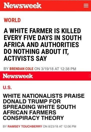 """""""News""""week on Africa White Culling"""