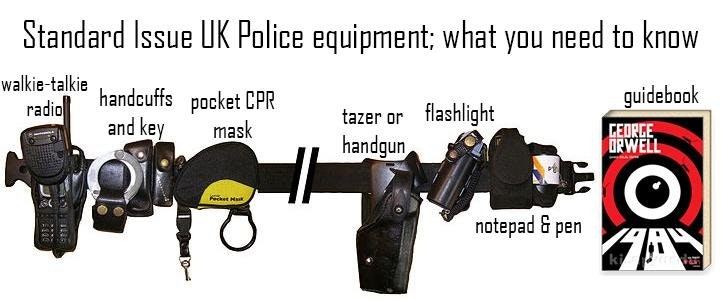 Official list of UK Police equipment from the government website's training material
