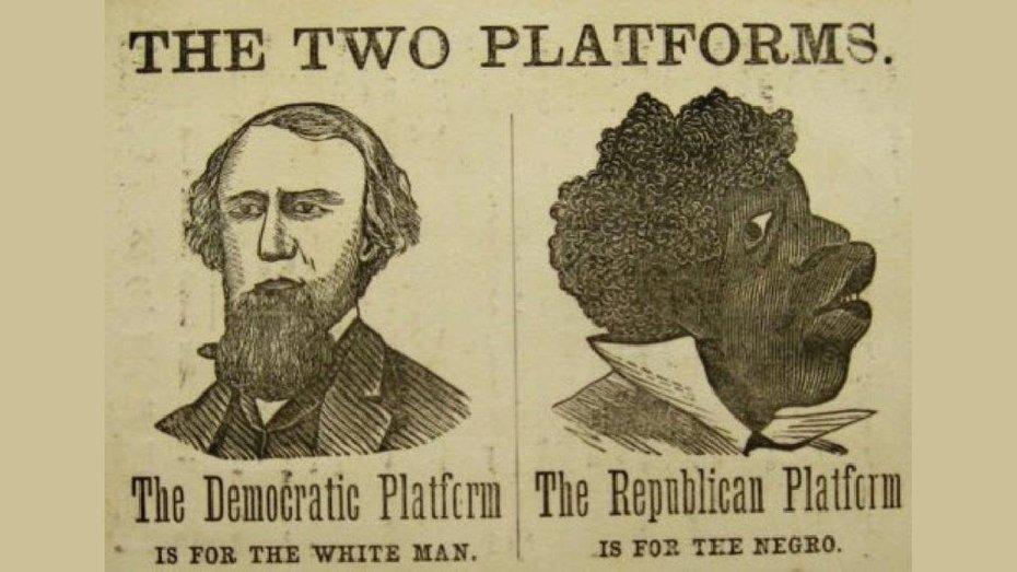 Vintage Democrat Campaign Poster Circa 1869