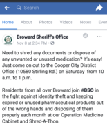 Broward County Operation Medicine Cabinet and Shred-A-Thon