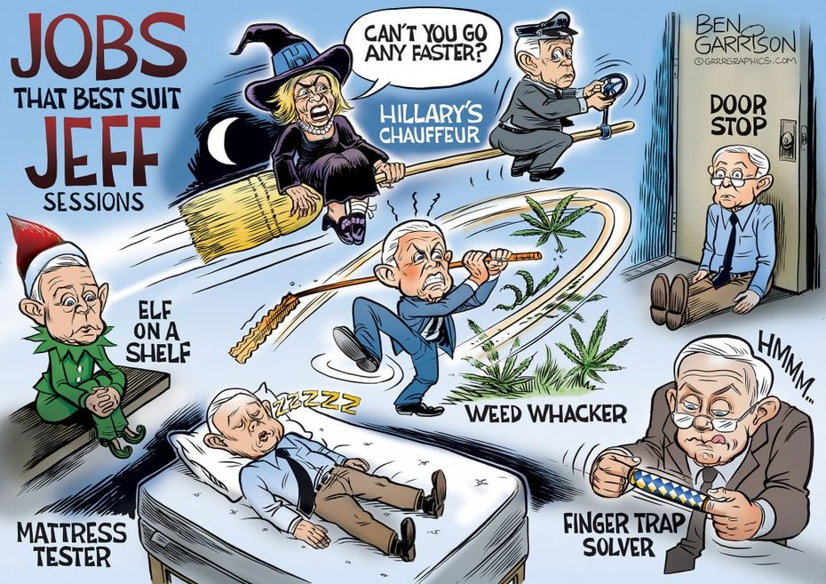 Ben Garrison Cartoons --- New Career Choices For Jeff Sessions