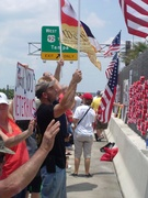 protest against illegal imagration , amnesty and border surge