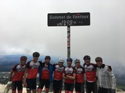 Team on top on Ventoux
