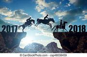 caballos-saltar-2018-año-nuevo-almacen-de-imágenes_csp48038459