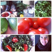 Kale salad - raw food - awesomeness