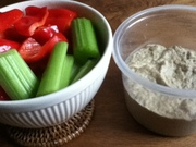 Veggies and Baba Ghanoush