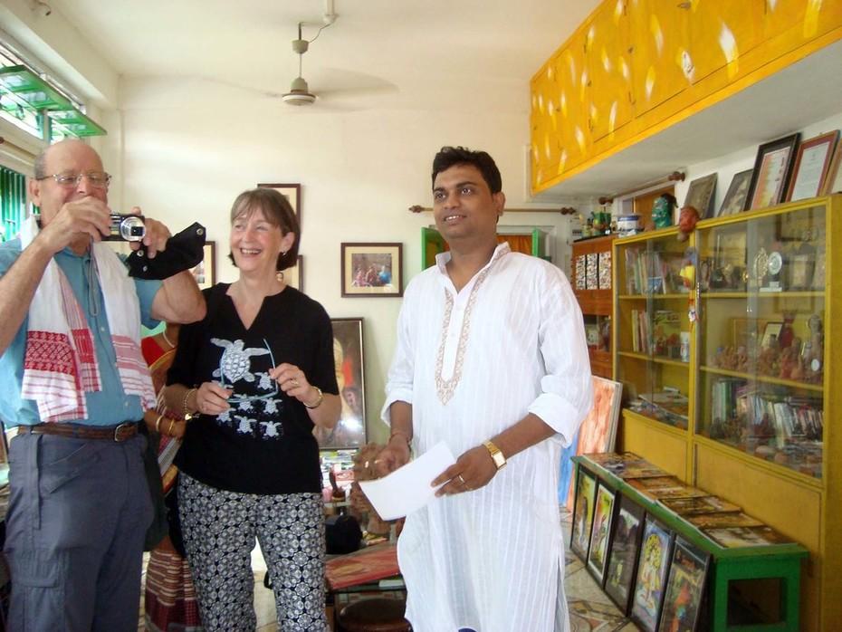 Jan& Bryan Cupples, Uk visit Artist Sujit Das at Nagaon, Assam (INDIA)