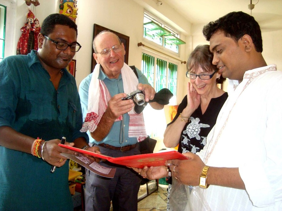 Jan& Bryan Cupples, Uk visit Artist Sujit Das at Nagaon, Assam (INDIA)