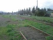 Temporary rail removal in Healdsburg