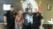 Thanks again to the chief of Maricopa Arizona police for his support with the streets don't love you back organization we will be donating 100 blessing bags a month