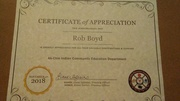 I would like to thank the ak-chin community Education Department and Renee Carter Akau and Liane for this.