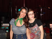 with Ginny Mac at Brave Combo's CD Release Party at Jovita's