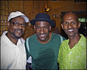 Photographer SEALEY2K, Bassist MARCUS MILLER, Martial Artist GERARD MUNAJJ at The DMS Concert in Atlanta GA, 5/30/2011