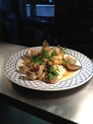 Ross' Lemon sole and clam Dish