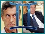 Macri -Scioli y la  ambiguedad