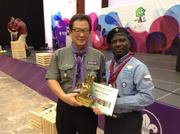 Philip Soneye and Simon Hang-Bock Rhee former WOSM President
