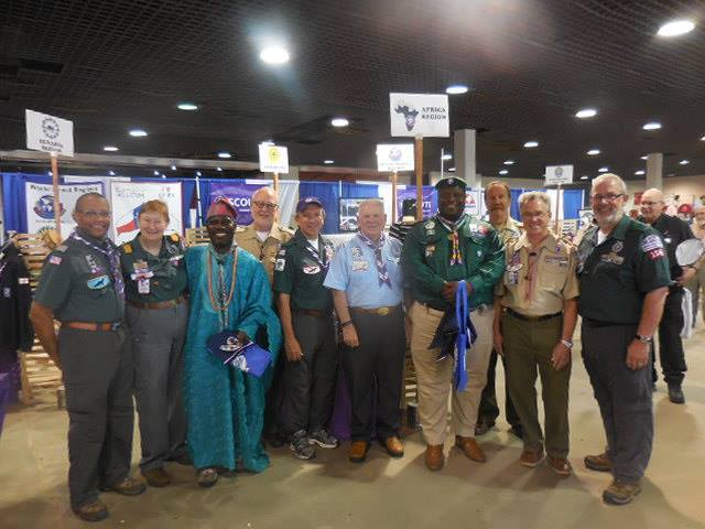 With the Chief Scout of Nigeria and the SHAC International Team