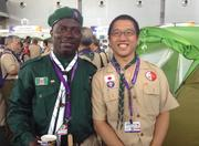 Philip and a Scout leader from Japan