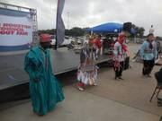 Philip doing cultural dance at shac fair