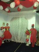 Orixás em festa na ASSOBECATY, Bará, Ogum , Iansã e Xangô