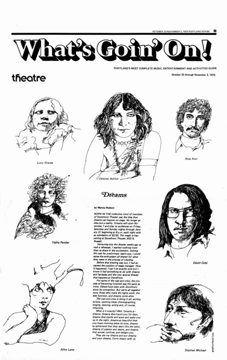 Storefront Theater Portraits, 1975
