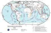 tectonic map of the earth