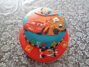 Cars 2 taart voor Sep
