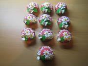 bloemen cup cakes