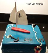 Vlet zeilboot taart