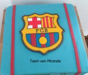logo fcb taart